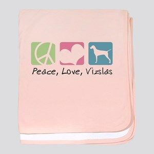 Peace, Love, Vizslas baby blanket